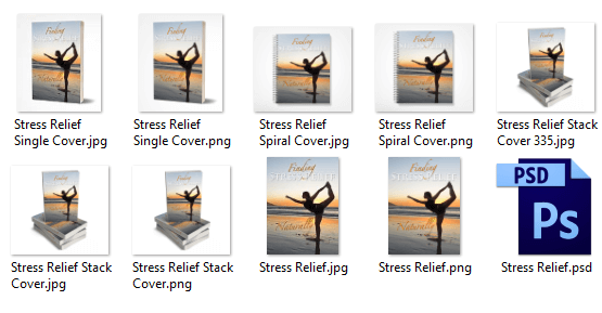 Stress Relief PLR eCover Graphics