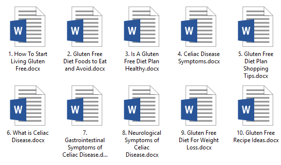 Gluten Free PLR Articles