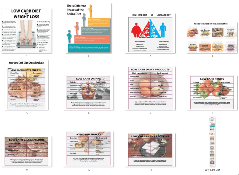 Low Carb Diet Infographics PLR