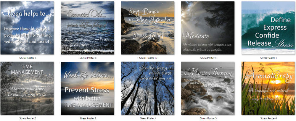 Stress Relief PLR Social Posters