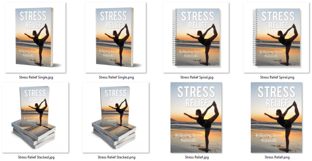 Stress relief PLR eCover Graphics