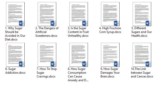 Sugar PLR Articles