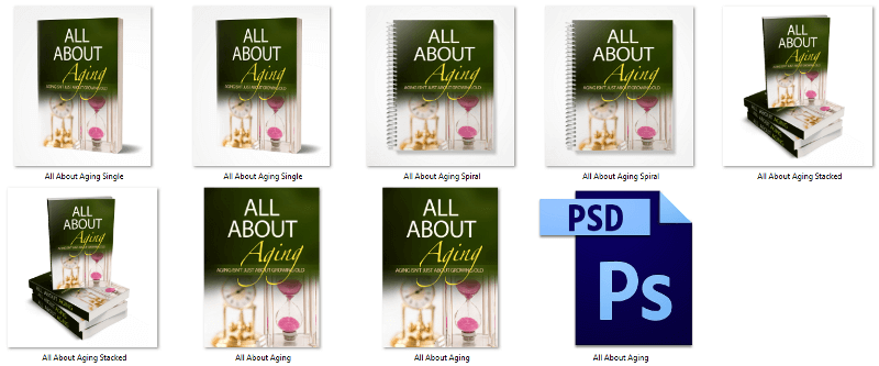 All About Aging PLR eBook Covers
