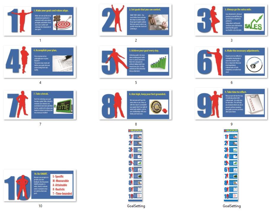 Goal Setting PLR Infographics