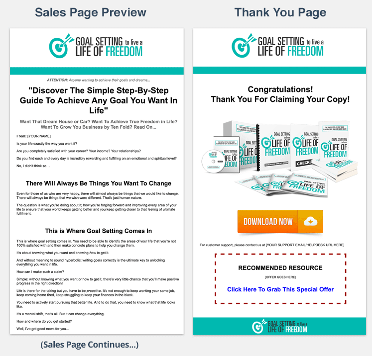 Goal Setting Salespage PLR