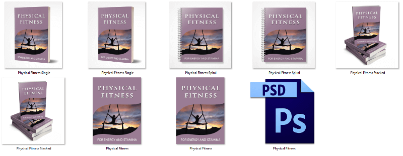Physical Fitness PLR eCover Graphics