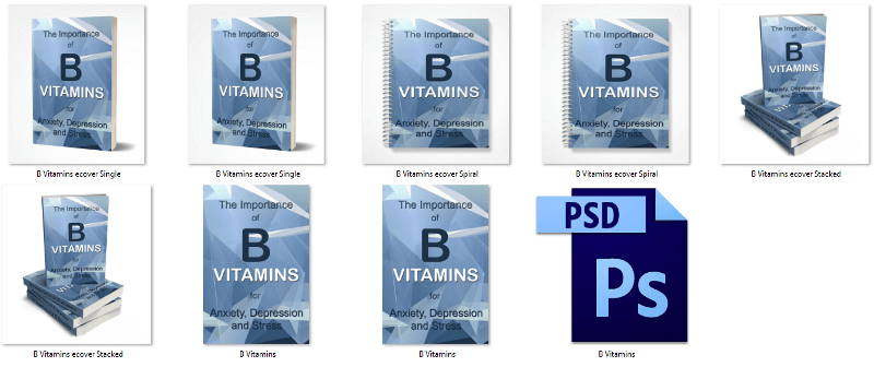 Vitamin B eCover PLR Graphics