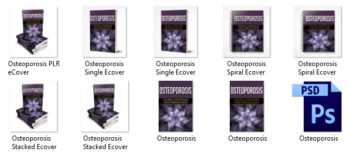 Osteoporosis eBook Cover Graphics PLR