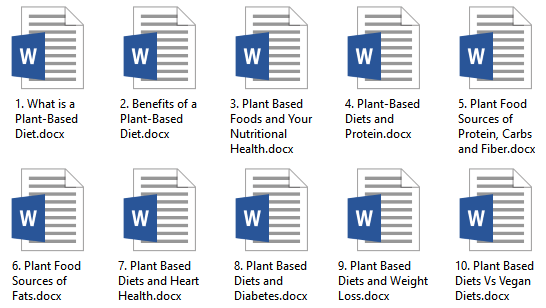 Plant-Based Diet PLR Articles