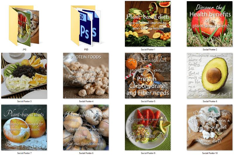 Plant Based Diet PLR Social Posters