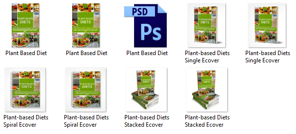 Plant Based Diets eCover eBook Graphics PLR