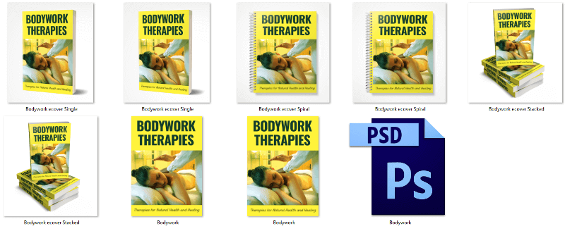 Bodywork Therapies PLR eBook Covers