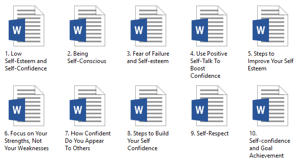 Self-Confidence PLR Articles