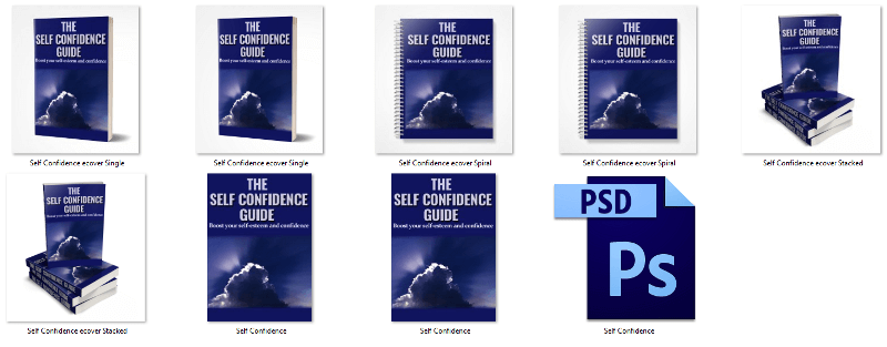 Self-Confidence PLR eBook Cover Graphics