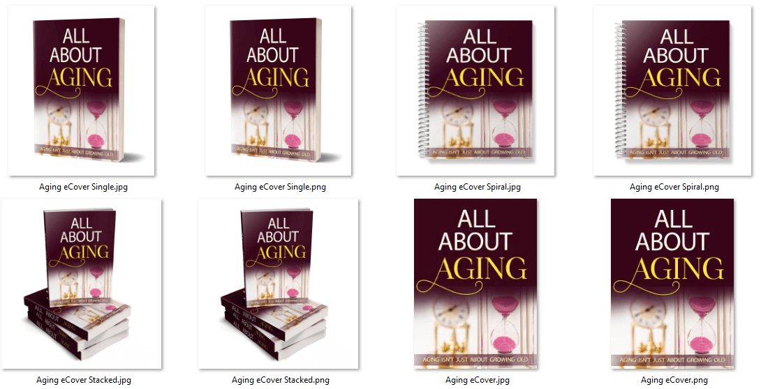 Aging PLR eCover Graphics