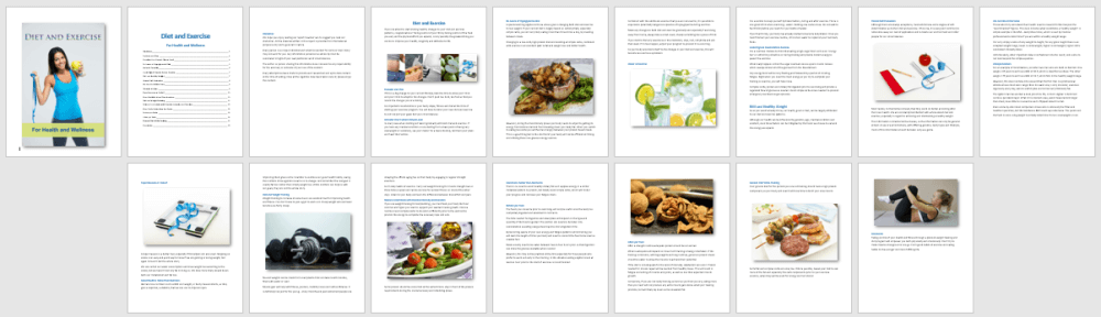 Diet-and-Exercise-Report PLR