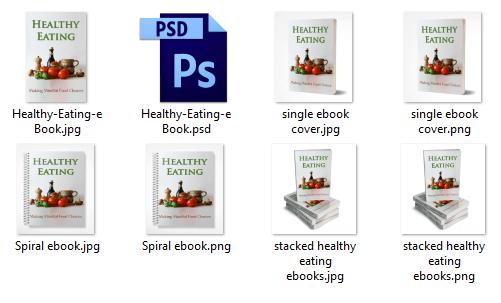 Healthy-Eating-ebook-Covers PLR