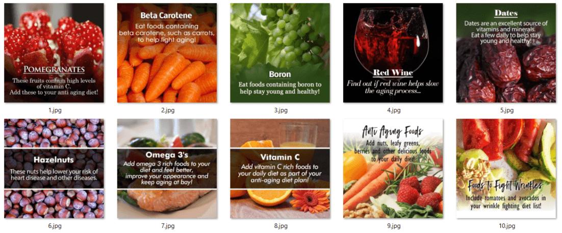 Anti Aging Diet PLR Social Posters