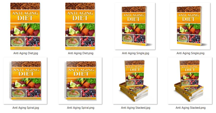 Anti Aging Diet PLR eCover Graphics