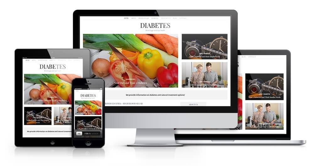 Diabetes WordPress Website