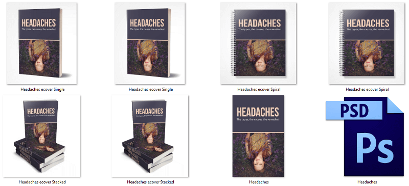 Headaches eCover Graphics PLR