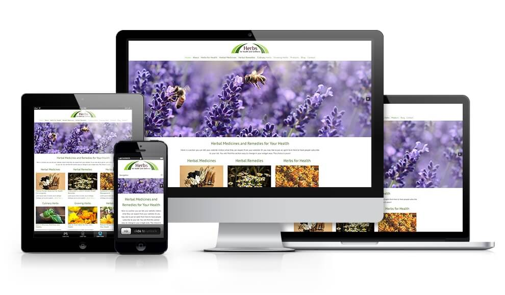 Herbs for Health Website Theme