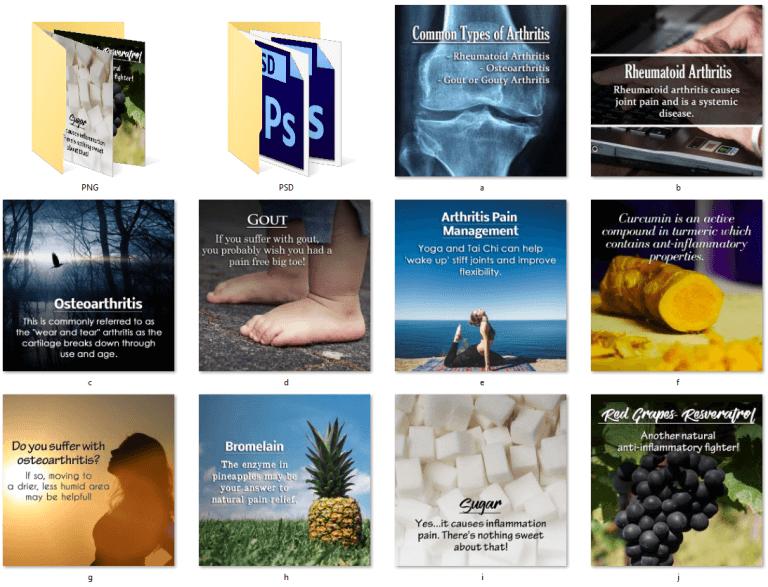 Arthritis PLR Social Posters