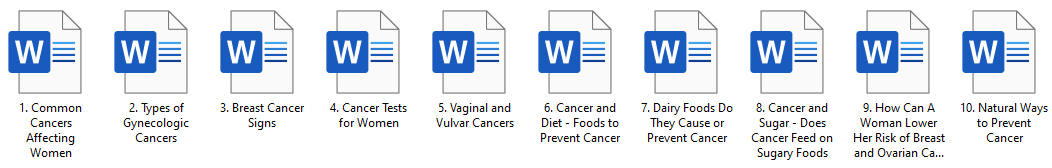 Cancers in Women PLR Article Pack