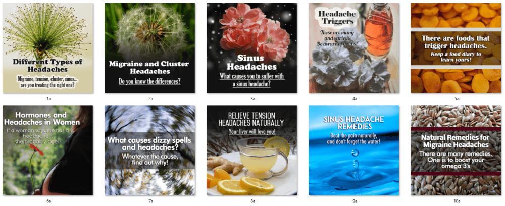 Headaches PLR Social Posters