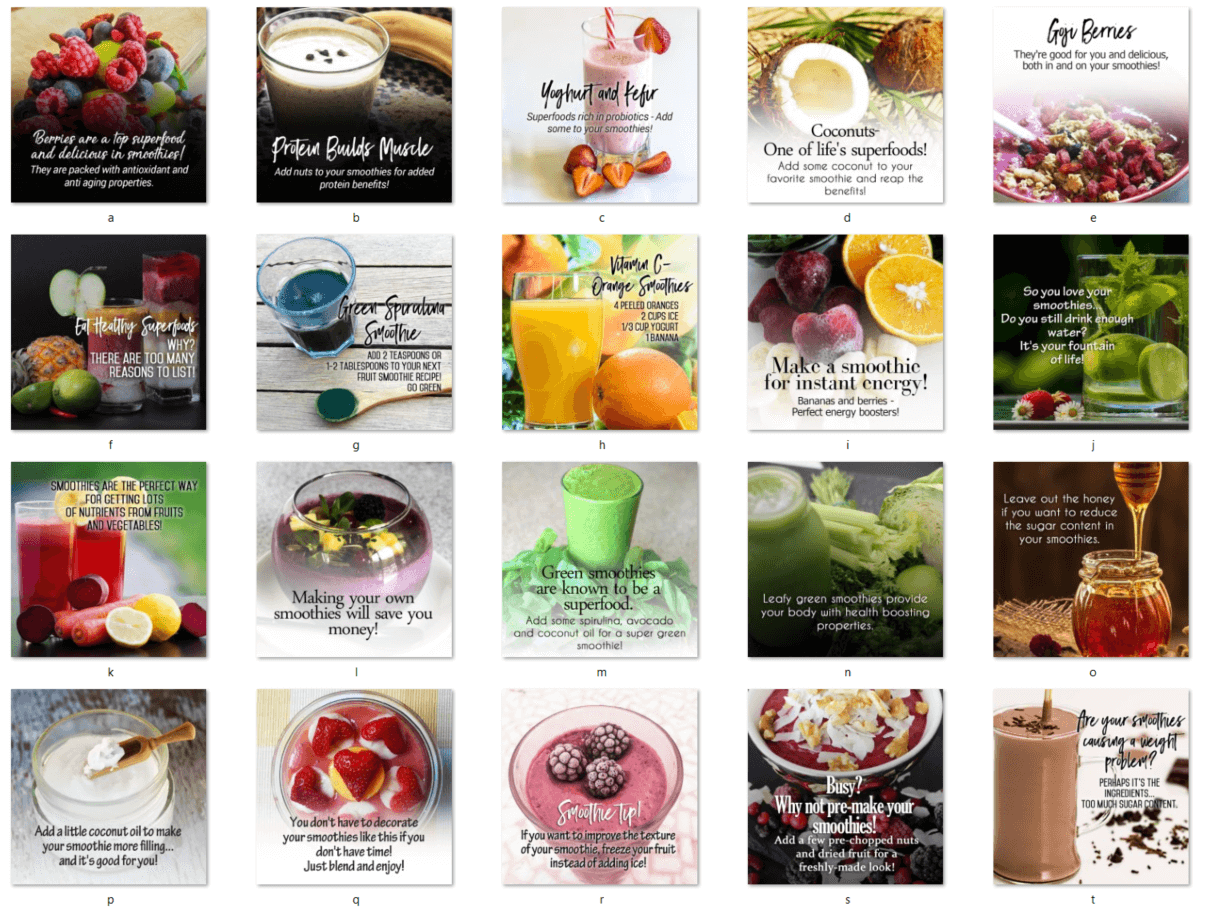 Smoothie and Superfood Social Posters