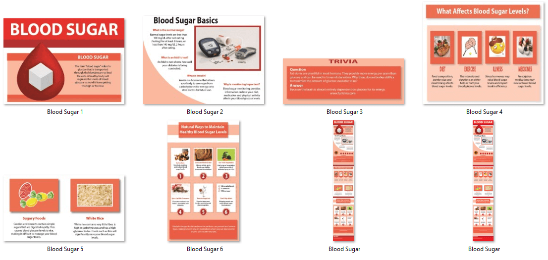 Blood Sugar PLR Infographics