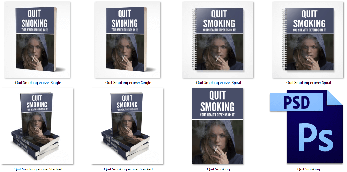 Quit Smoking PLR eCover Graphics