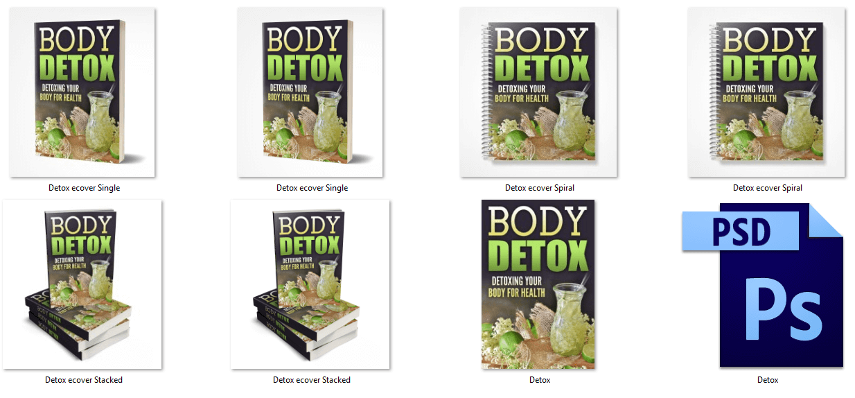 Body Detox PLR eBook Graphics