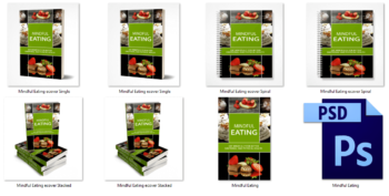 Mindful Eating PLR eBook Cover Graphics