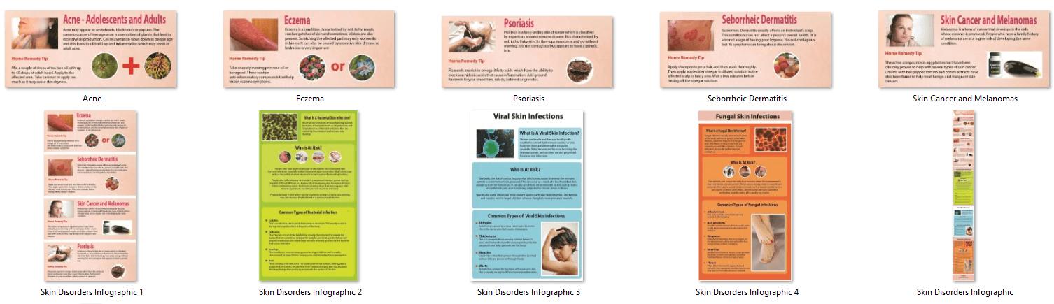 Skin Disorder PLR Infographics