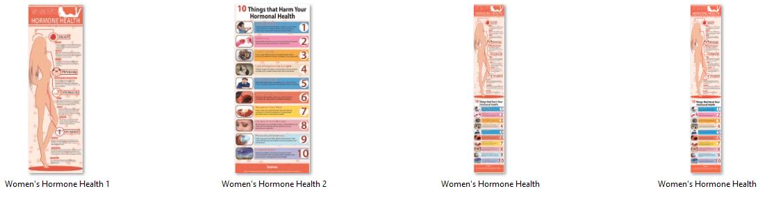 Womens Hormonal Health PLR Infographics