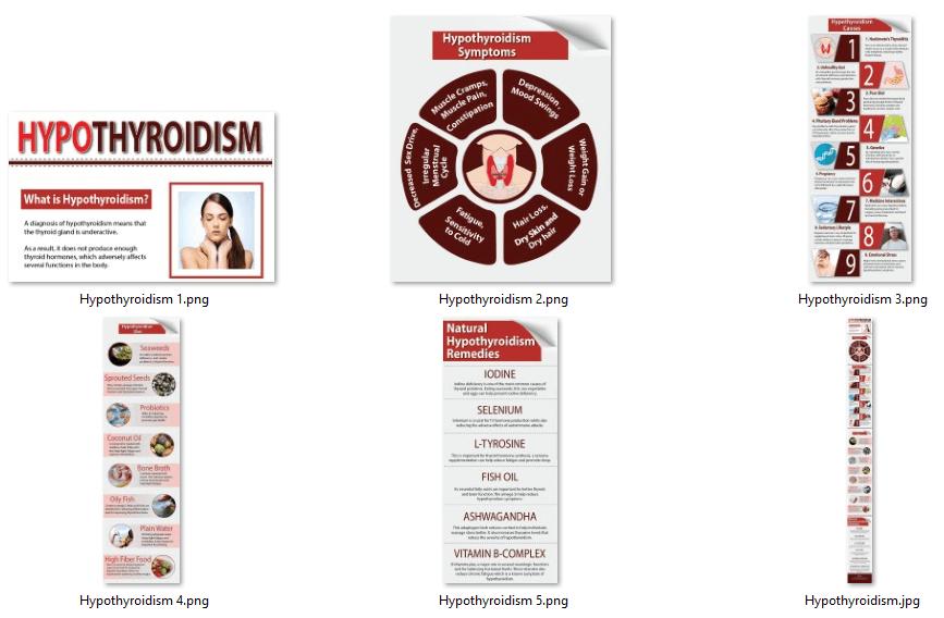 Hypothyroidism PLR Infographics