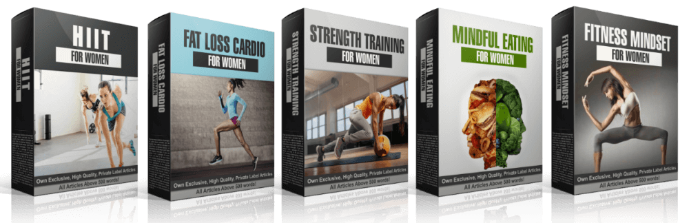 Women's Fitness PLR Article Content Bundle