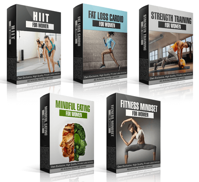 Women's Fitness Content PLR Bundle