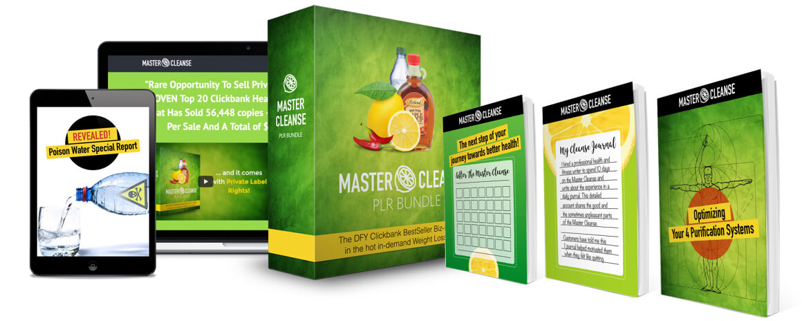 Master Cleanse PLR Package