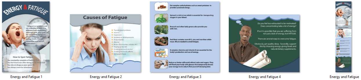 Energy and Fatigue Infographic