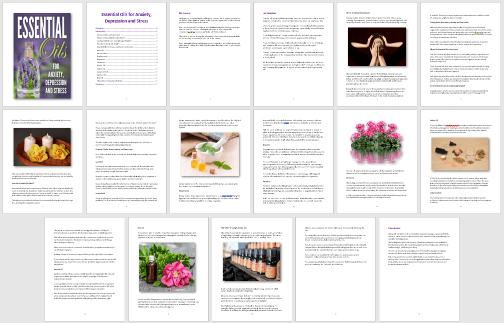 Essential Oils eBook PLR