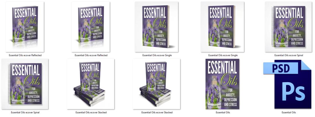 Essential Oils PLR Report Cover Graphics