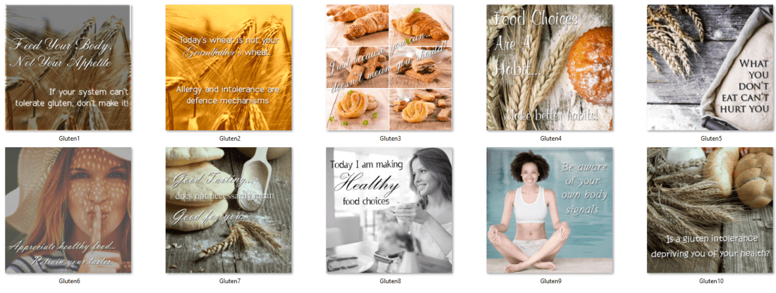 Gluten Free Social Posters