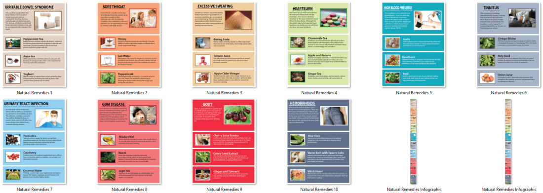Natural Remedies PLR Infographics