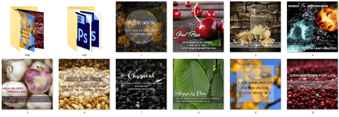 Natural Remedies PLR Social Posters
