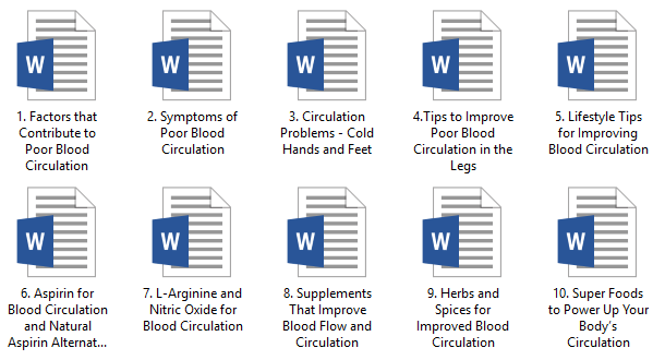 Blood Flow and Circulation PLR Articles