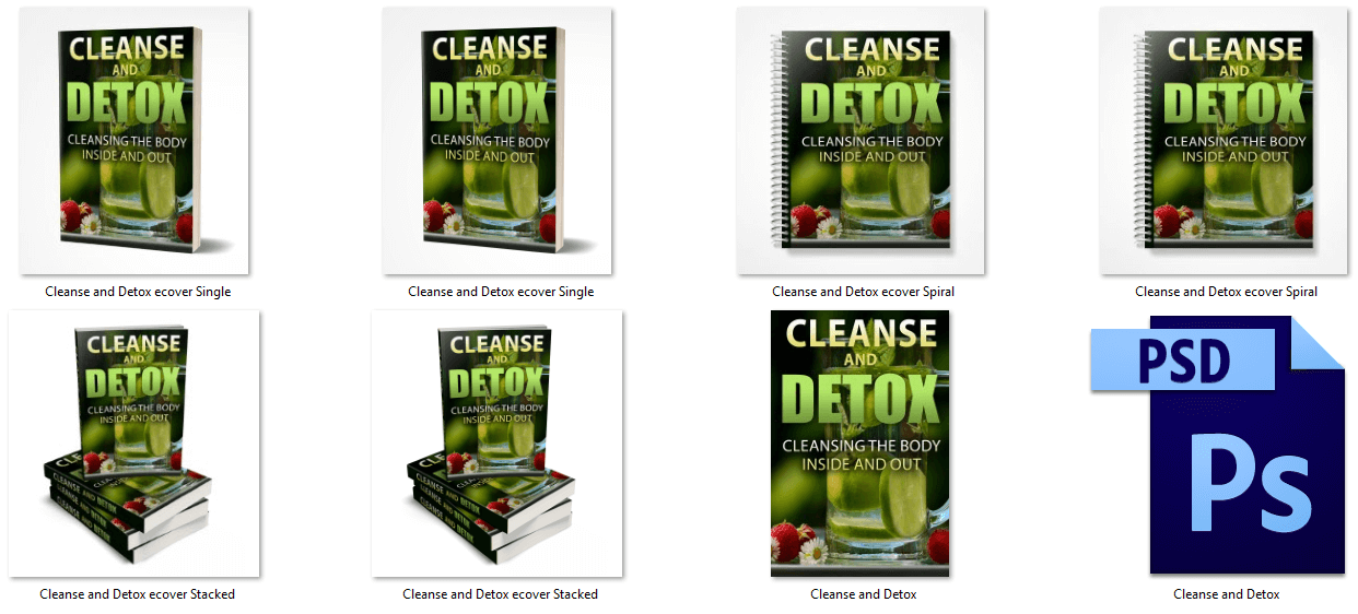 Cleanse and Detox PLR eBook Covers
