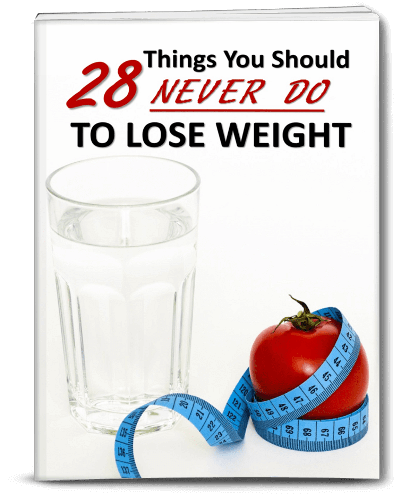 Things Not To Do To Lose Weight PLR eBook