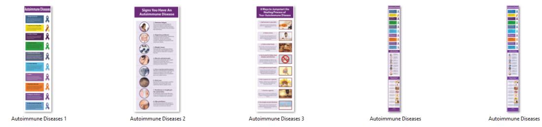 Autoimmune Disease Infographics PLR